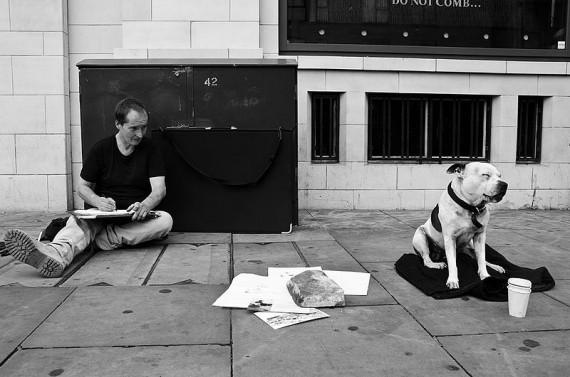 John_The_Artist_and_George_The_Dog